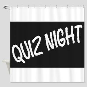 Quiz Night Blackboard Shower Curtain