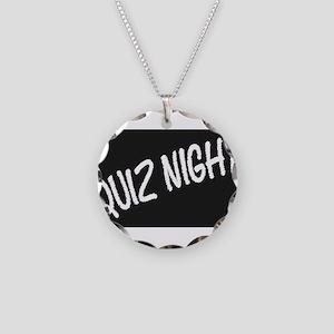 Quiz Night Blackboard Necklace Circle Charm