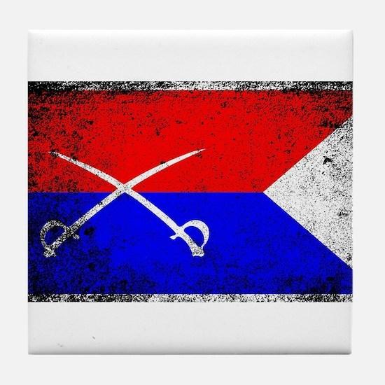 Custer HQ Flag Tile Coaster