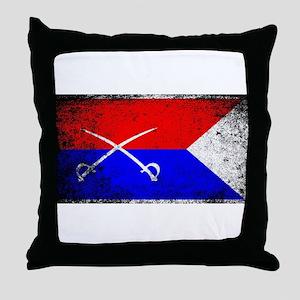 Custer HQ Flag Throw Pillow