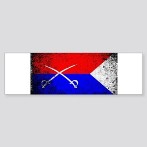 Custer HQ Flag Bumper Sticker