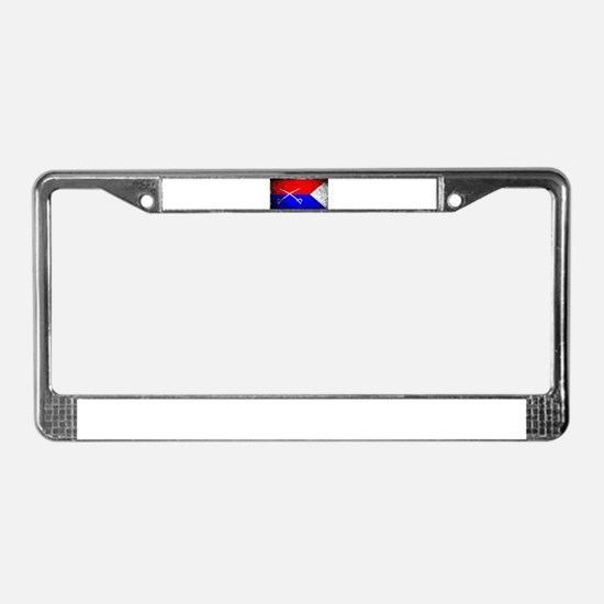 Custer HQ Flag License Plate Frame