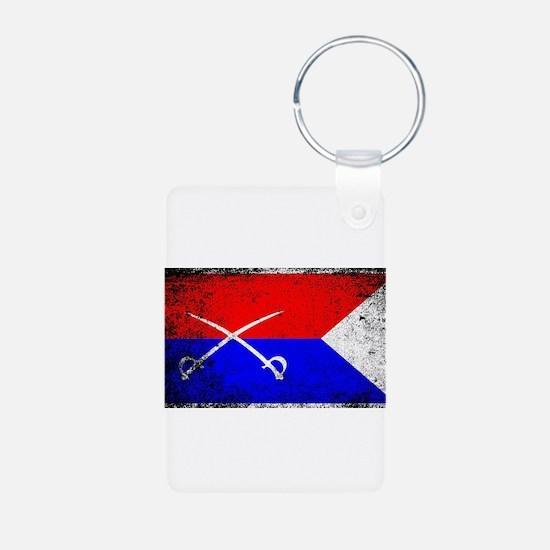 Custer HQ Flag Keychains