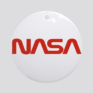 NASA Snake Logo Ornament (Round)