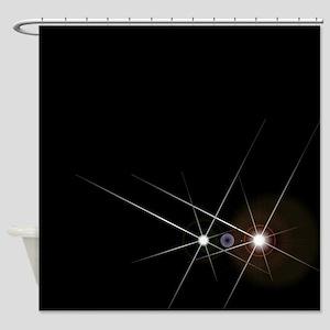 Oncoming Headlights Shower Curtain