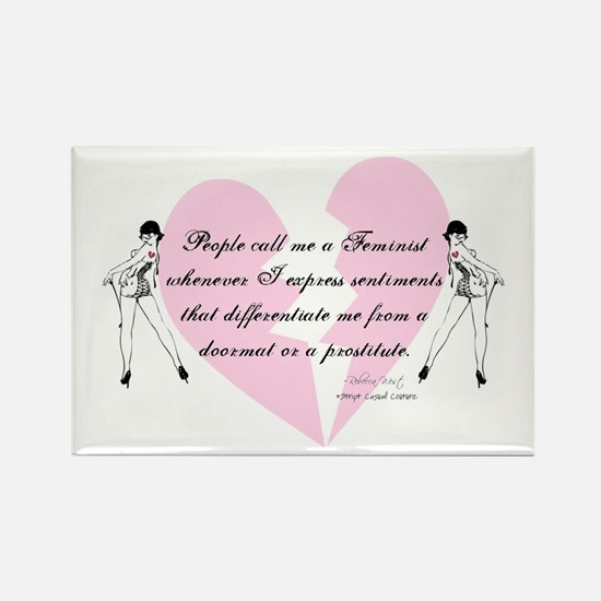Feminist Quote T-shirts and g Rectangle Magnet