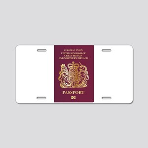 British Passport Aluminum License Plate