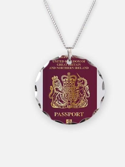 British Passport Necklace
