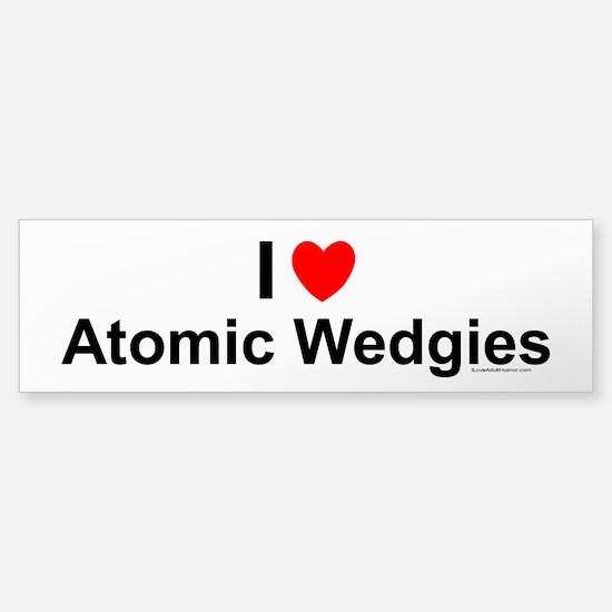 Atomic Wedgies Sticker (Bumper)