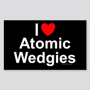 Atomic Wedgies Sticker (Rectangle)