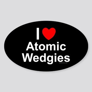 Atomic Wedgies Sticker (Oval)