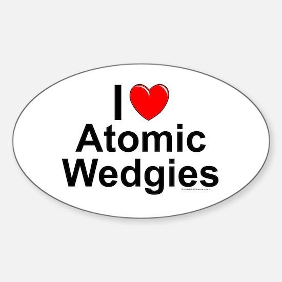 Atomic Wedgies Sticker (Oval)