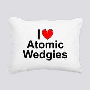 Atomic Wedgies Rectangular Canvas Pillow