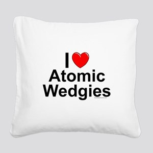 Atomic Wedgies Square Canvas Pillow