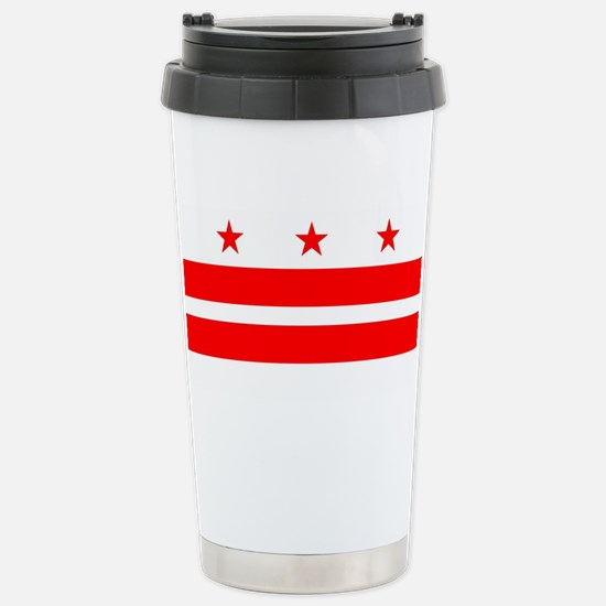 Washington DC State Fla Stainless Steel Travel Mug