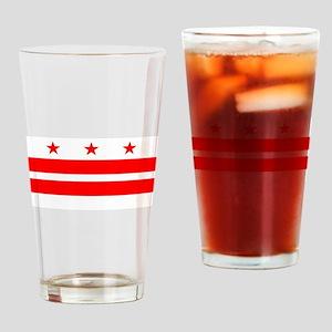 Washington DC State Flag Drinking Glass