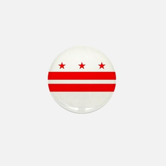 Washington DC State Flag Mini Button