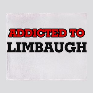 Addicted to Limbaugh Throw Blanket