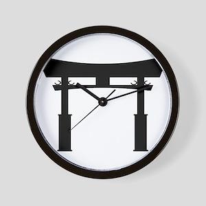 Tori Gate Silhouette Wall Clock