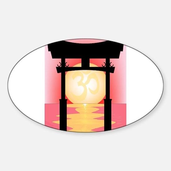 Japanese Tori Gate Sunset Decal