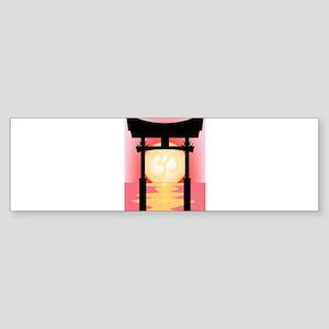 Japanese Tori Gate Sunset Bumper Sticker
