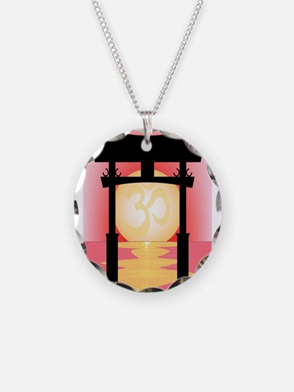 Japanese Tori Gate Sunset Necklace