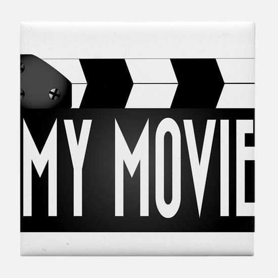 My Movie Clapperboard Tile Coaster