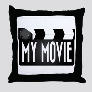 My Movie Clapperboard Throw Pillow