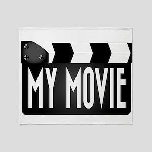 My Movie Clapperboard Throw Blanket