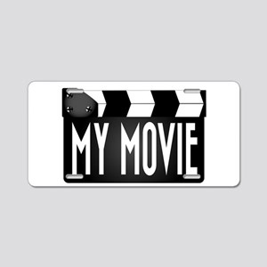 My Movie Clapperboard Aluminum License Plate
