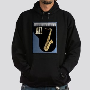 Saxophone Piano Background Hoodie (dark)