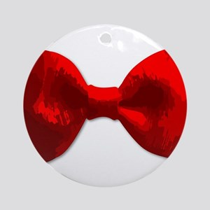Red Bow Tie Round Ornament