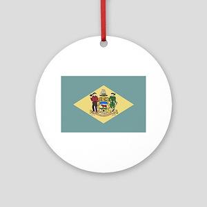 Flag of Delaware Round Ornament