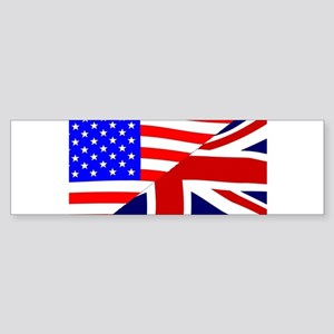 USA and UK Flags Bumper Sticker