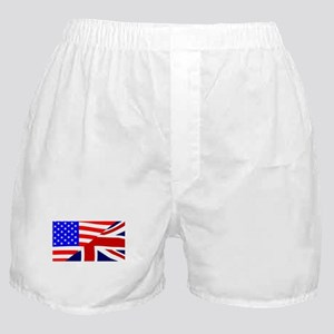USA and UK Flags Boxer Shorts