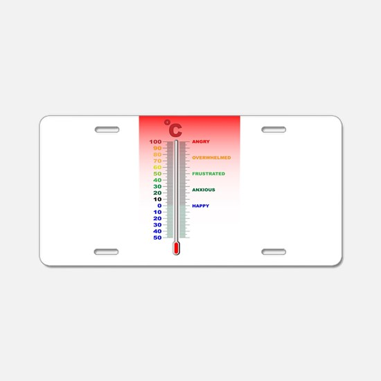 Temper Thermometer Aluminum License Plate