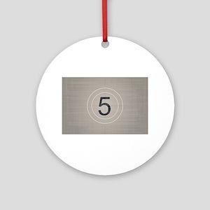 Move Countdown Round Ornament