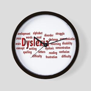 Dyslexia Wall Clock