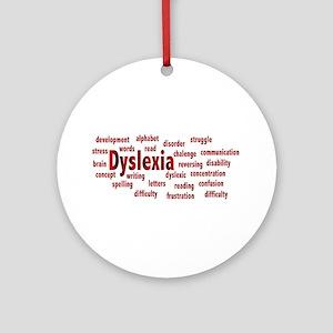 Dyslexia Round Ornament