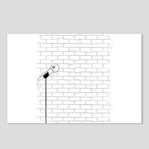 Karaoke Poster Sketch. Postcards (Package of 8)
