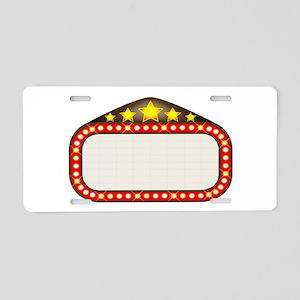 Cinema Marquee Aluminum License Plate