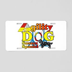 Sussex Spaniel Agility Aluminum License Plate
