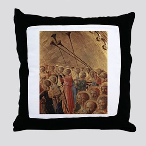 Medieval Angels Throw Pillow