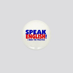 Speak English I Need Practice Mini Button