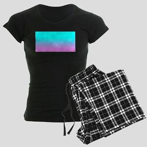 Pink to Blue Women's Dark Pajamas