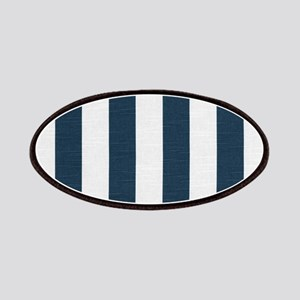 coastal blue nautical stripes Patch