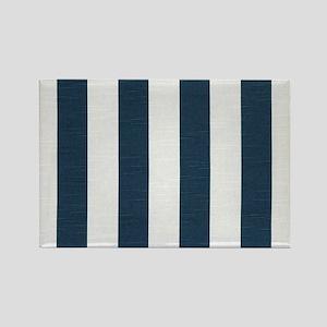 coastal blue nautical stripes Magnets