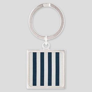 coastal blue nautical stripes Keychains