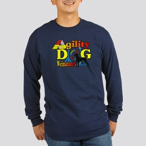 Weimaraner Agility Long Sleeve Dark T-Shirt