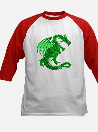 Kids Green Dragon Baseball Jersey